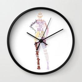 Body Positive 2 Wall Clock