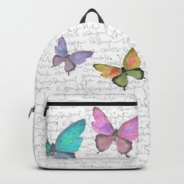 Butterflies  (white) Backpack