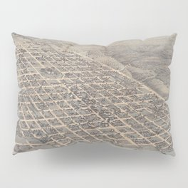 Vintage Pictorial Map of Austin Texas (1873) Pillow Sham