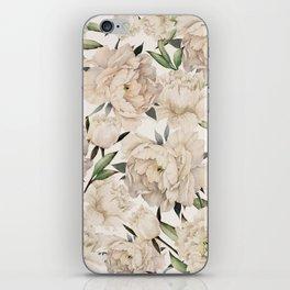 Peonies Pattern iPhone Skin