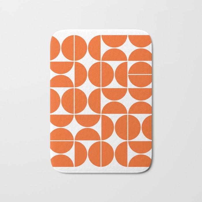 Mid Century Modern Geometric 04 Orange Badematte