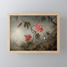 Passion Flowers With Hummingbirds 1883 By Martin Johnson Heade   Reproduction Framed Mini Art Print