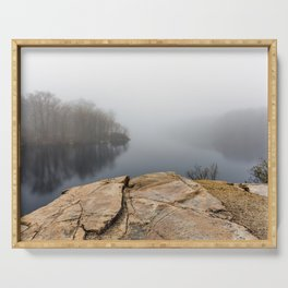 Foggy reflections Serving Tray