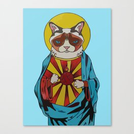 Holy Cat Canvas Print
