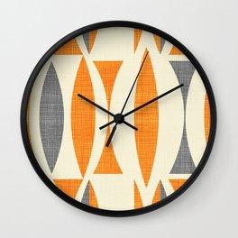 Seventies  orange Wall Clock