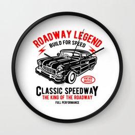 Roadway Legend - Vintage, Classic Car Wall Clock