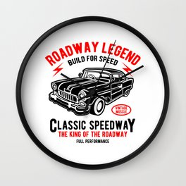 Roadway Legend - Vintage, Classic Car Wall Clock