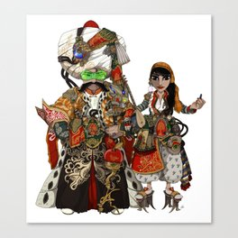 Cyber Sultan and Sultana.  Canvas Print
