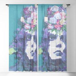 Flower man Sheer Curtain