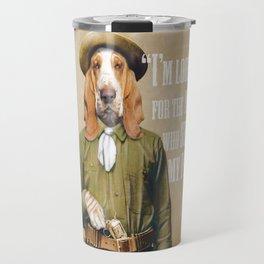 Basset Hound Cowboy Travel Mug