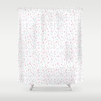confetti Shower Curtains featuring Confetti by Blue Jean Genie
