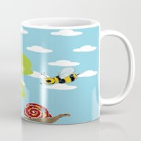 bee Mugs featuring bee by BruxaMagica