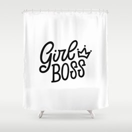 Girl Boss Shower Curtain
