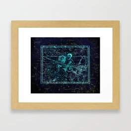 Aquarius, Constellation map, Zodiac, Sign sky, Stars, Universe, astrology, astrological Framed Art Print
