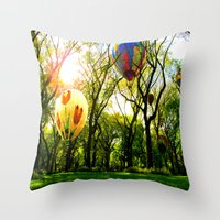 central park Throw Pillows featuring Central Park by kpatron