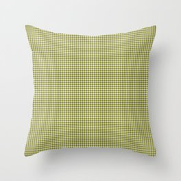 Olive Gingham Throw Pillow