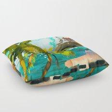 Seascape #4 Floor Pillow