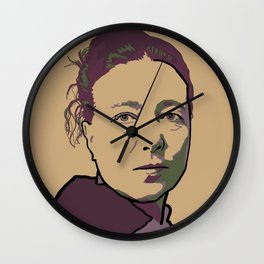 Simone de Beauvoir Wall Clock