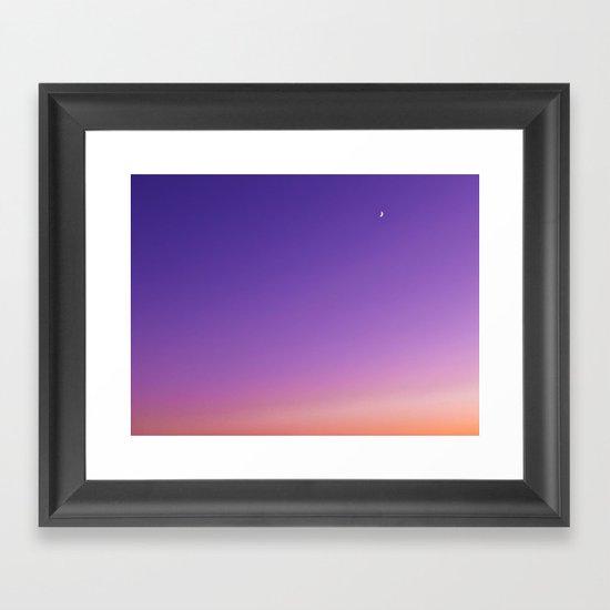 Sunset Moon Framed Art Print