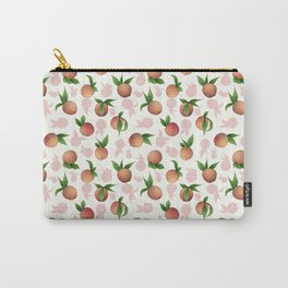 Peachy Keen Peaches and Cream Carry-All Pouch