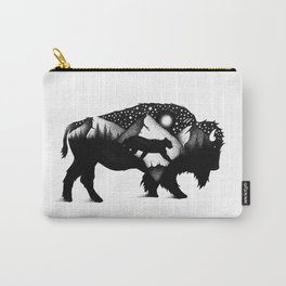 THE BISON AND THE COUGAR Carry-All Pouch