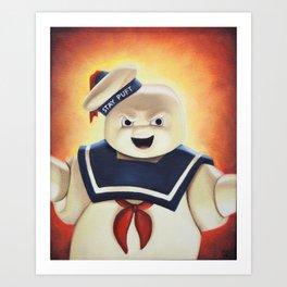 Stay Puft Marshmallow Man Art Print