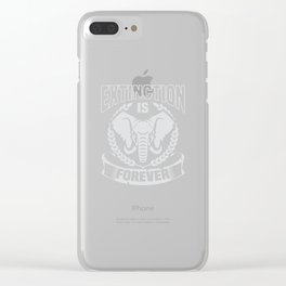Elephant Extinction Conservation Apparel | Anti Poaching Clear iPhone Case