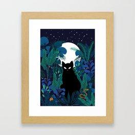 mystical cat Framed Art Print