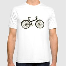 Bicycle White Mens Fitted Tee X-LARGE