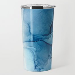 Blue Tides - Alcohol Ink Painting Travel Mug