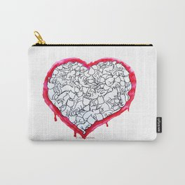 Cats Heart Carry-All Pouch