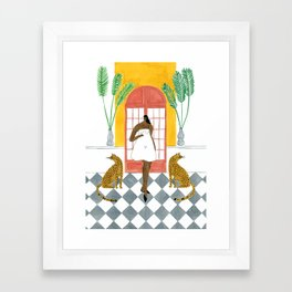 Ashish Dress Framed Art Print