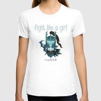 dota T-shirts featuring Fight Like a Girl - Dota's Phantom Assassin by ~ isa ~