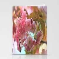 cherry blossoms Stationery Cards featuring Cherry Blossoms by Judy Palkimas