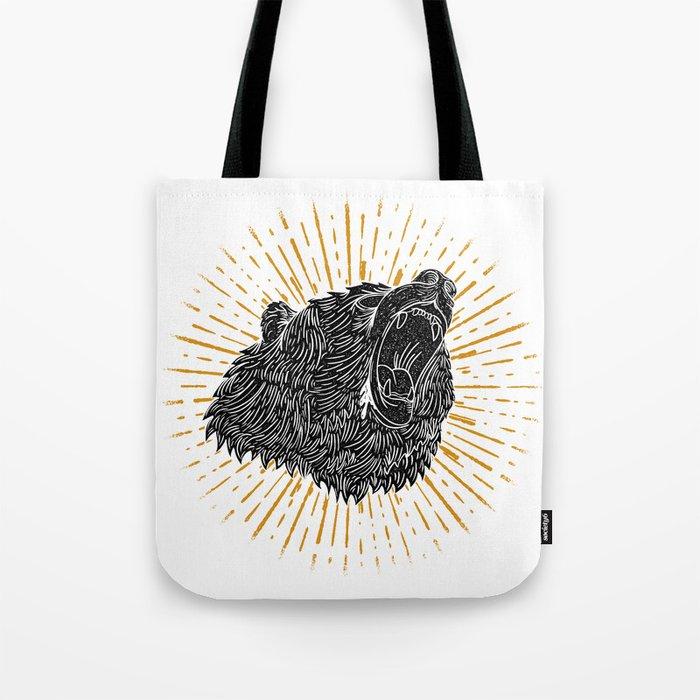 Bear Attack Tote Bag