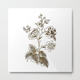 Golden flower Metal Print