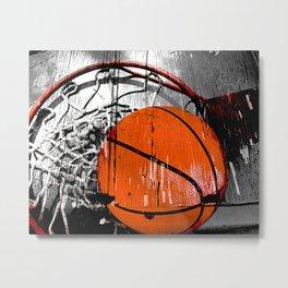 Modern Basketball version 1 Metal Print
