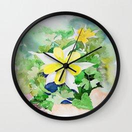 WXTX Columbine Texas Star Flower Wall Clock