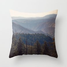 Yosemite Mountains  Throw Pillow