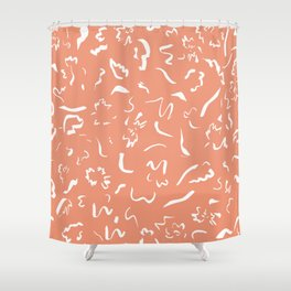 Freely Scribbled - Terracotta Shower Curtain