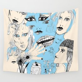 Scribbles  Wall Tapestry