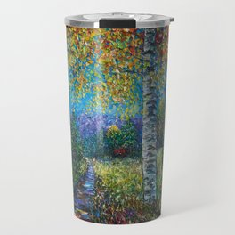 Nocturne Blue - Palette Knife Travel Mug