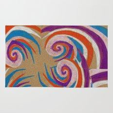 snoozy spiral Rug