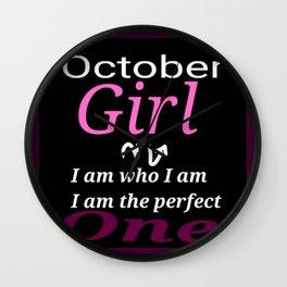 October girl  Wall Clock