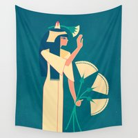egypt Wall Tapestries featuring ancient egypt no.2 by namaki