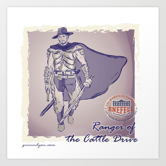 Ranger of the Cattle Drive Art Print