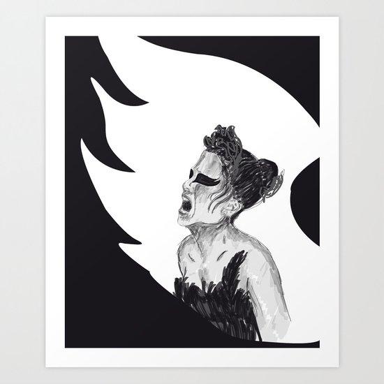 Black Swan III Art Print