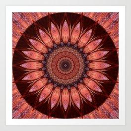 Mandala mystic flower Art Print