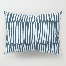 Inspired by Nature | Organic Line Texture Dark Blue Elegant Minimal Simple Pillow Sham