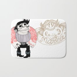 tatoo_love_maria Bath Mat